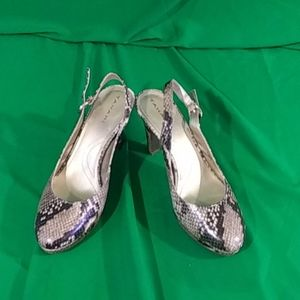 HP Tahari sz 8.5 snake skin print slingback heels